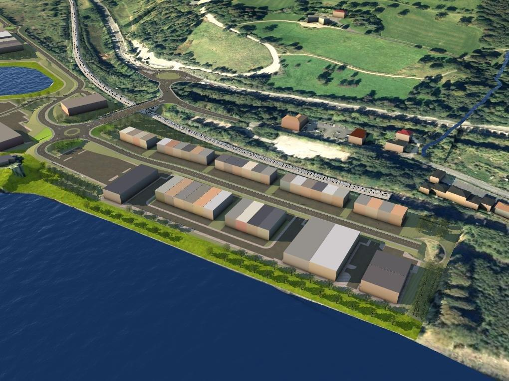 Render of the exxon site in eastfield