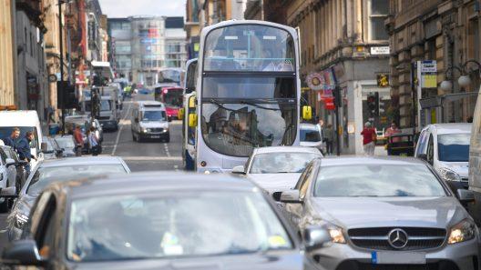 Decorative image of Glasgow City Centre traffic.