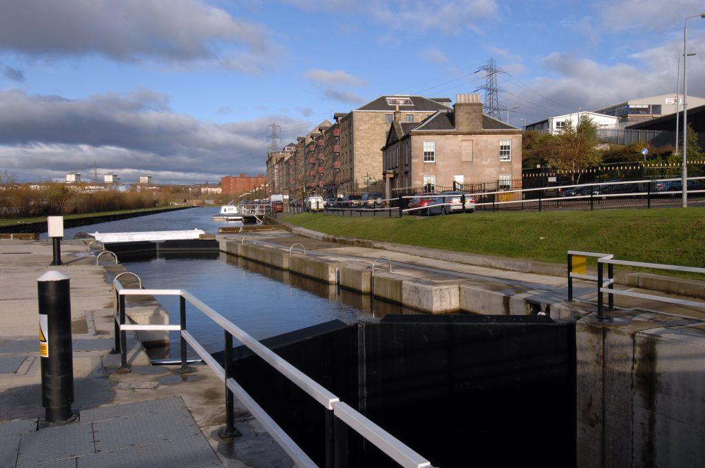 Glasgow canal, North Glasgow.