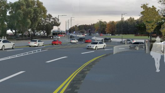 Ravenscraig Access Infrastructure - artists' impression of new roundabout
