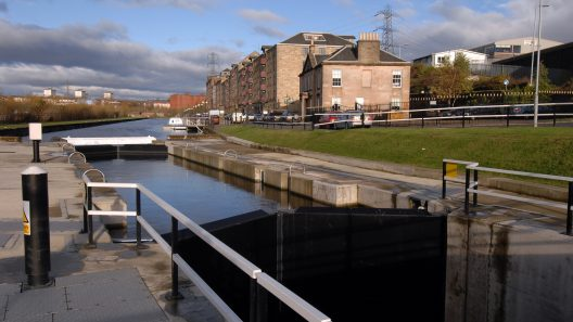 Photograph of Spiers Wharf canal, Glasgow